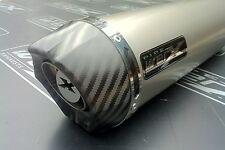 Aprilia RSV Mille 1000 2004-2008 Pair,Titanium Round Carbon Outlet Exhausts Cans