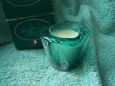 Avon Pitkin Hat Candle Holder  Aqua Blue Glass Fresh Aroma Smoker's Candle