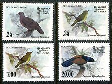 Sri Lanka 691-694 MNH Birds 1983 Ceylon wood pigeon White-eye,Dusky-blue  x16350