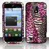 Straight Talk ZTE Majesty 796C Rubberized HARD Case Snap Cover Pink Safari