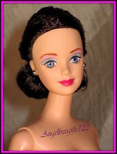Nude Brunette barbie with elegant hairdo with mackie face sculpt