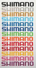 2 x 20 cm LONG SHIMANO BICI Adesivi In Vinile Decalcomania ciclo INGRANAGGI SEAT BOX FRAME