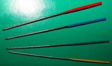 4 Mini Diamond Needle files 0.9,1.0,1.2,1.5mm ROUND 240 grit NEW