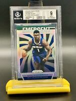 ❤️2019-20 Panini Prizm Silver Emergent #7 Zion Williamson BGS 9 Mint - 4 Charity