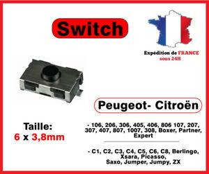 Switch bouton clé télécommande Peugeot 106 206 207 307 406 Citroen xsara C3 C5