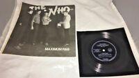 +Vintage Very Rare 1982 The Who Maximum R&B Magazine & Rare 1965 Flexi Disk