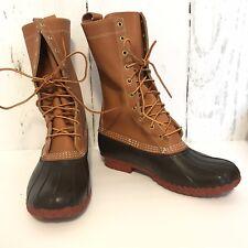 L.L. Bean Tall Duck Hunting Leather Rain Boots 11 M