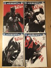 All-Star Batman #1 - #4  Variant Covers by Jock DC Rebirth NM Bagged and Boarded