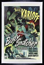 THE BODY SNATCHER ✯ 1945 CineMasterpieces KARLOFF LUGOSI HORROR MOVIE POSTER