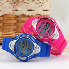 Boys And Girls Pink Blue Digital Watch With Stopwatch Alarm Light Ages 6-13