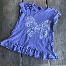 Girls naartjie Tapestry Floral Essentials Glitter Butterfly Tunic Ruffles Size 8