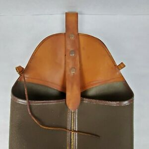 60's Vtg Protective Chaps JUSTIN UTILITY ☆ Pant Cover Chainsaw Leather & Cordura