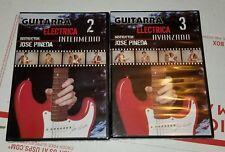 Manual De Guitarra Electrica DVD Vol 2,3 Aprenda A Tocar Guitarra Video set NEW