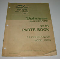 Parts Book Ersatzteilkatalog Johnson Outboards 2 HP Model 2R76S Stand 03/1976!