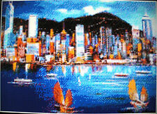 HONG KONG HARBOUR ~ NEW Counted Cross Stitch KIT #ML41