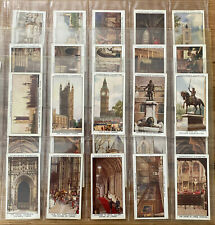 RARE CHURCHMAN THE HOUSES OF PARLIAMENT & THEIR STORY CIGARETTE CARDS 1931
