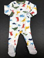 Carter's Boys Dinosaur Fleece Footed Sleeper Pajamas NWT 2T