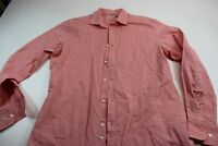 J. Lindeberg Nantucket Peach LONG SLEEVE DRESS SHIRT M 15.5 x 34/35