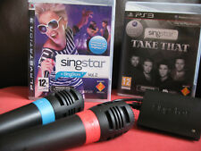 PS3 SINGSTAR MEGA 55 Song Games + 2 Microphones Bundle - Playstation 3 / PS3
