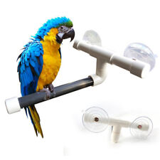Pet Bird Perches Wall Suction Cup Toys Paw Grinding Shower Stand Parrot Budgie
