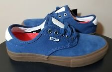 Mens VANS Chima Ferguson Size 7 Blue Canvas Sneakers White Leather Accent  NWT