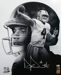 Dak Prescott Autographed/Signed Dallas Cowboys 16x20 Photo BAS 28670 PF