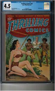 Thrilling Comics #70 CGC 4.5 - Alex Schomburg airbrushed cover - Frank Frazetta