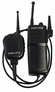 Police Force Walkie Talkie Set Toy Prop 2 Way Radio Cop Costume Accessory