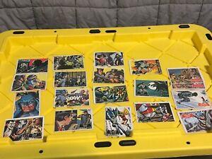 Batman 1966 Trading Cards - orange back - Lot of 15 Black Bat + 4 Red Bat
