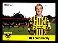 Lewis holtby autografiada tarjeta Alemannia Aachen 2008-09 original firmado + a 128258