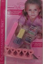 Runway Pink Kid's Glam Manicure Set With 50 Piece Nail Gems