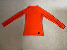 Nike Pro Hypercool men's long sleeve top   orange   small   brand new