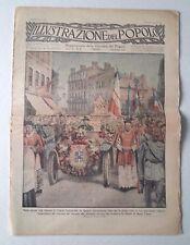L74> L'illustrazione del Popolo n.35 anno 1923 - Processione con automobile