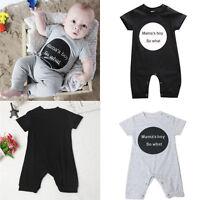 Newborn Infant Kids Baby Boy Romper Jumpsuit Playsuit Bodysuit Outfit Clothes UK
