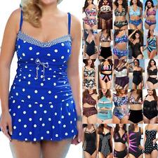 Women Tankini Set Bikini Swimwear Swimming Costume Swimsuit Bathing Plus Size