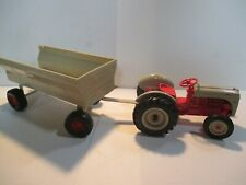 ERTL FORD DIECAST TRACTOR   RED & TAN  WITH TRAILER