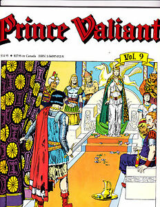 "Prince Valiant Vol 9-1990-Strip Reprints Soft Cover-"" Misty Isles -1st Print! """