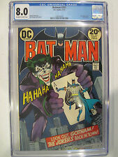 Batman #251 Joker Cover by Neal Adams CGC 8.0