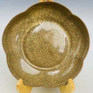 """6.7"""" china Antique Porcelain song dynasty ge Kiln Ice crack mark Brush Washer"""