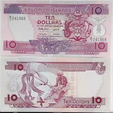Solomon Islands 10 Dollars 1986 Woman Traditional P 15 B/3 UNC