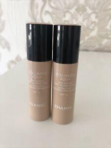 CC Chanel Vitalumiere Aqua Make-up Foundation 2 Stck Setpreis