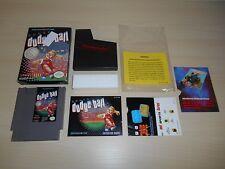 Super Dodge Ball Complete Nintendo NES Game CIB Dodgeball