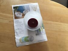 Partylite large tea light holder (FRESH HOME  BY PARTYLITE) Frosted glass