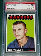 1965 TOPPS #95 TED TAYLOR PSA 8 NM-MT