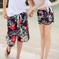 Para hombres Mujeres impreso Swim Beach Surf Elástico Pantalones Cortos