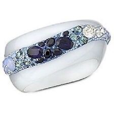 Auth SWAROVSKI GINSENG Multi BLUE Crystal SET - Bangle BRACELET & RING