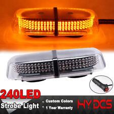 240 LED Roof Warning Strobe Emergency Beacon Flash Magnetic Yellow Amber Light