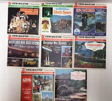 8 Vintage View-Master Reel Packs - Disney, Sea World, Movieland Museum & More