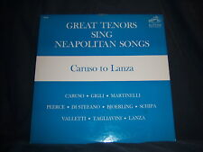 """RCA/Victor LM-2630 Great Tenors Sing Neapolitan Songs - Caruso to Lanza 1962 12"""""""