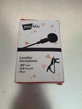 Lavalier Lapel Microphone for iPhone X 8 7 Plus iOS/Android Mini Lav Mic Clip on